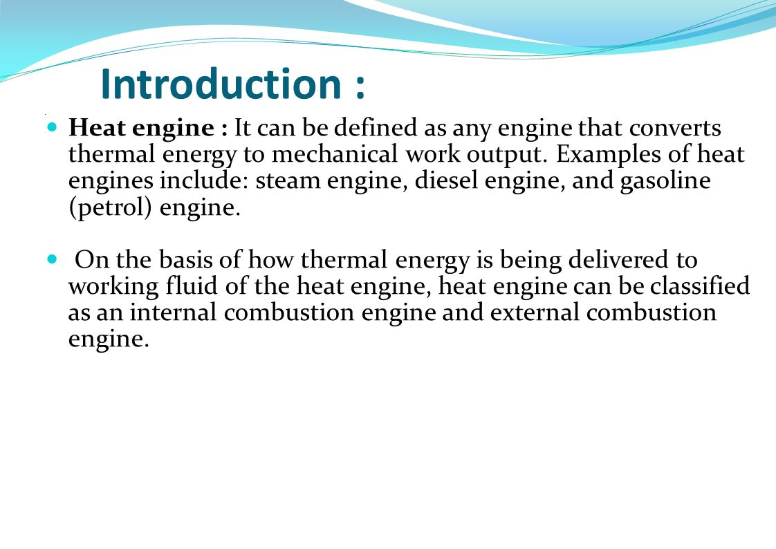 Introduction Heat Engine It Can Be Defined As Any That Auto Mobile Diagram 1