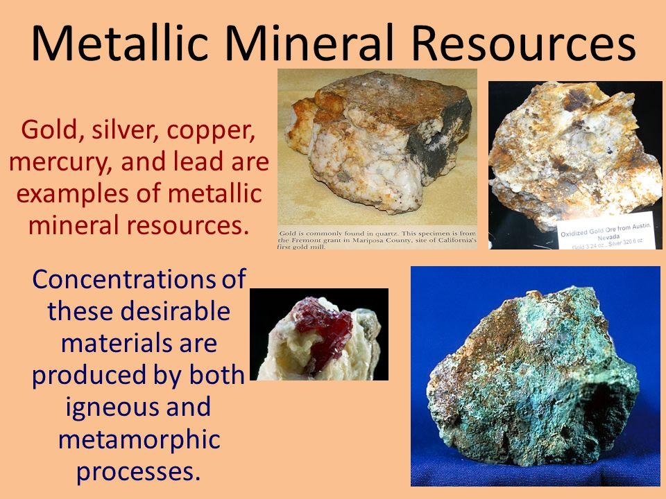 Sedimentary ore deposit environments.