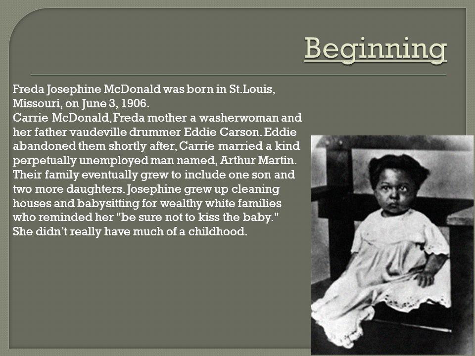 Freda Josephine Mcdonalds Biography Freda Baker Ppt Download