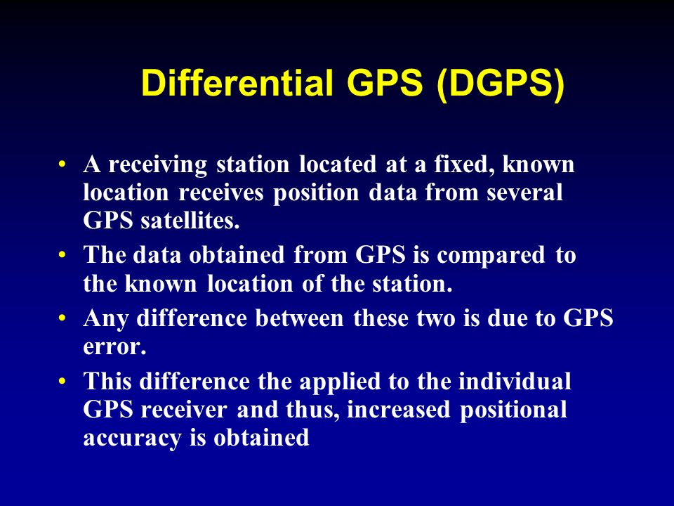 Lesson 14: Advanced Navigation Systems - ppt video online