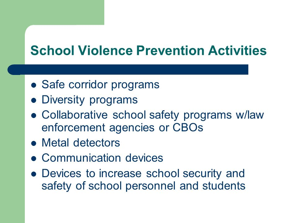 Extended School Day/School Violence Prevention - ppt download