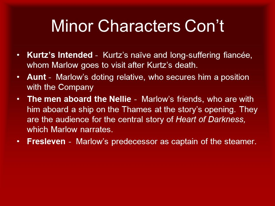 character of marlow in heart of darkness