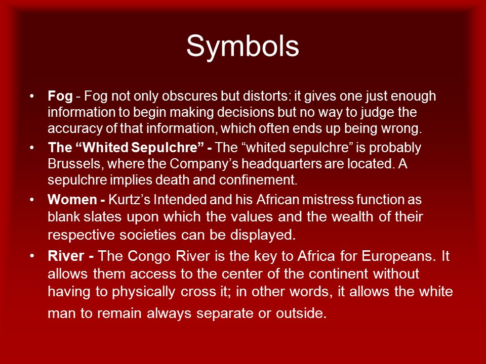 heart of darkness symbols