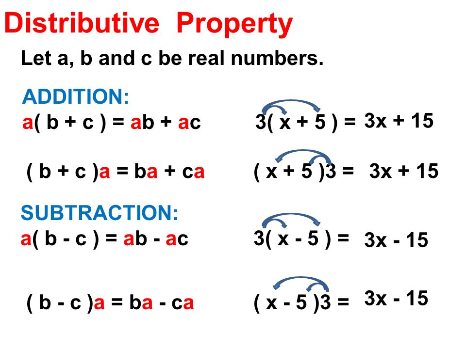 1 7 distributive property ppt download