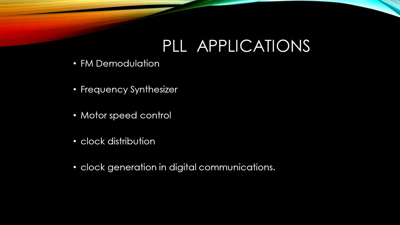 Prepared By Lobna Amer Youmna Hassan Mariam Mohamed Ppt Download Frequency Synthesizer Pll Applications Fm Demodulation