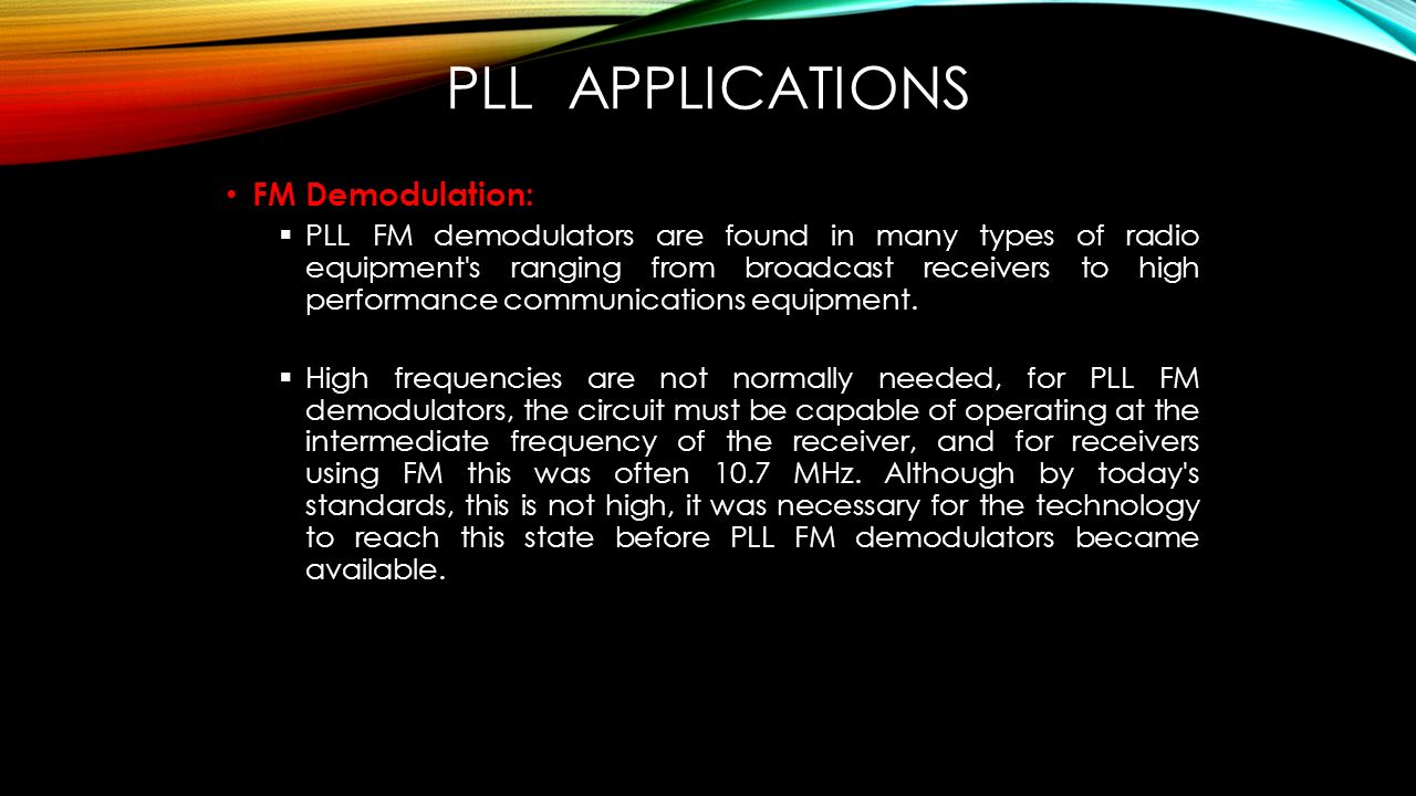 Prepared By Lobna Amer Youmna Hassan Mariam Mohamed Ppt Download Pll Fm Demodulator Circuit Schematic Diagram Applications Demodulation