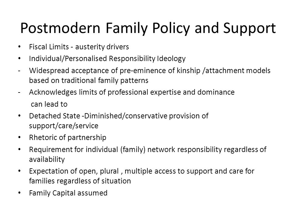 postmodern family examples