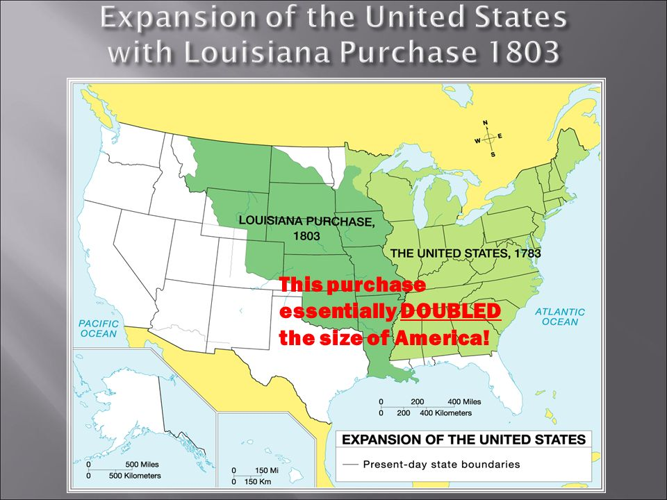 CHAPTER EIGHT THE JEFFERSON ERA Section TWO THE LOUISIANA PURCHASE ...