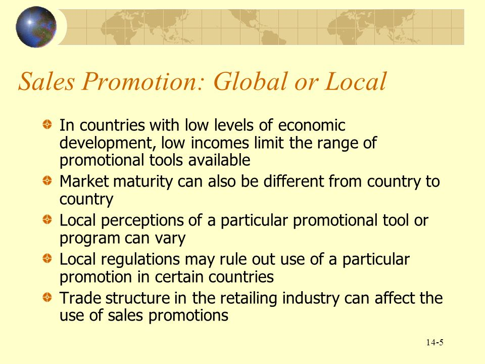Chapter 14 global marketing communications decisions ii sales sales promotion global or local fandeluxe Images