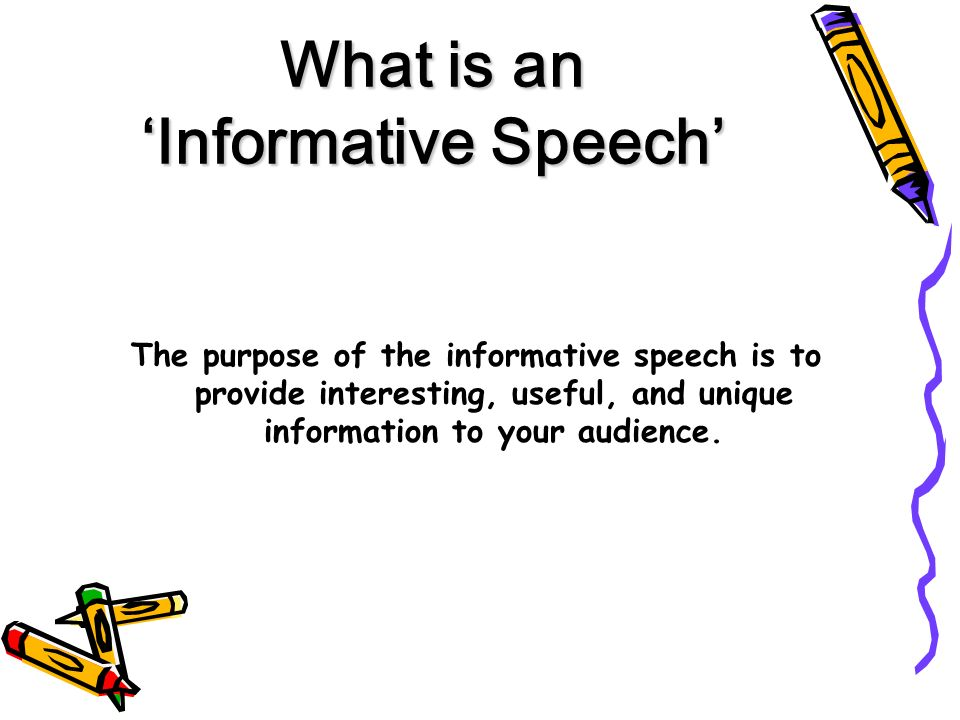 informative speech powerpoint example