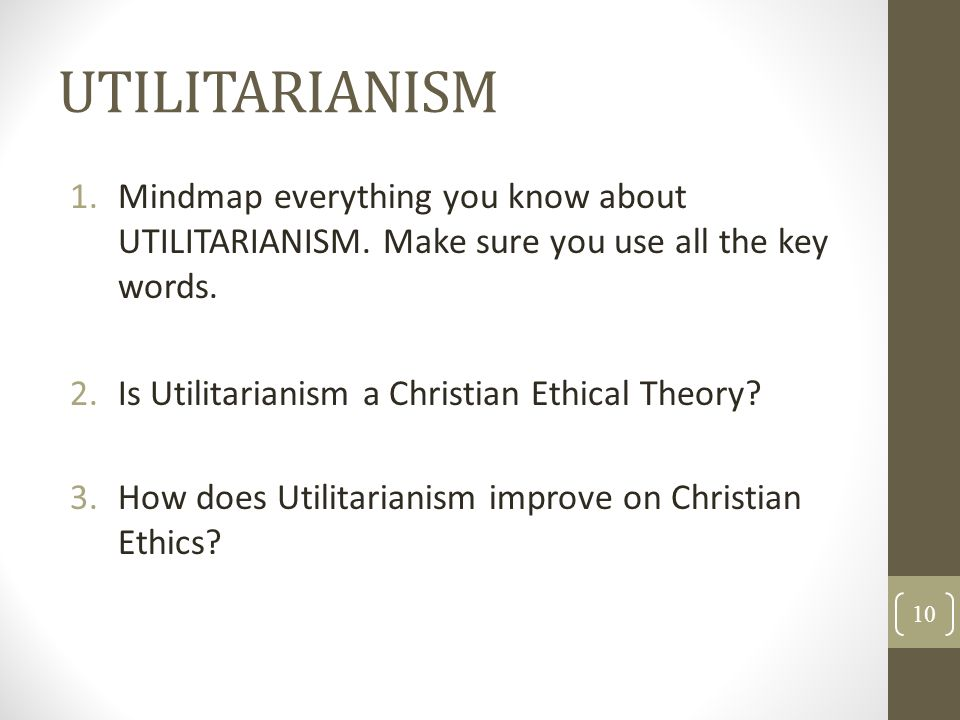 utilitarianism and christianity