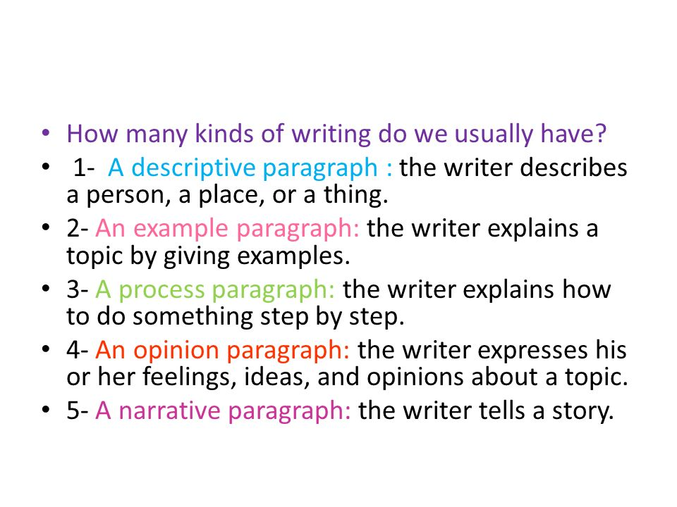how to write a process paragraph example