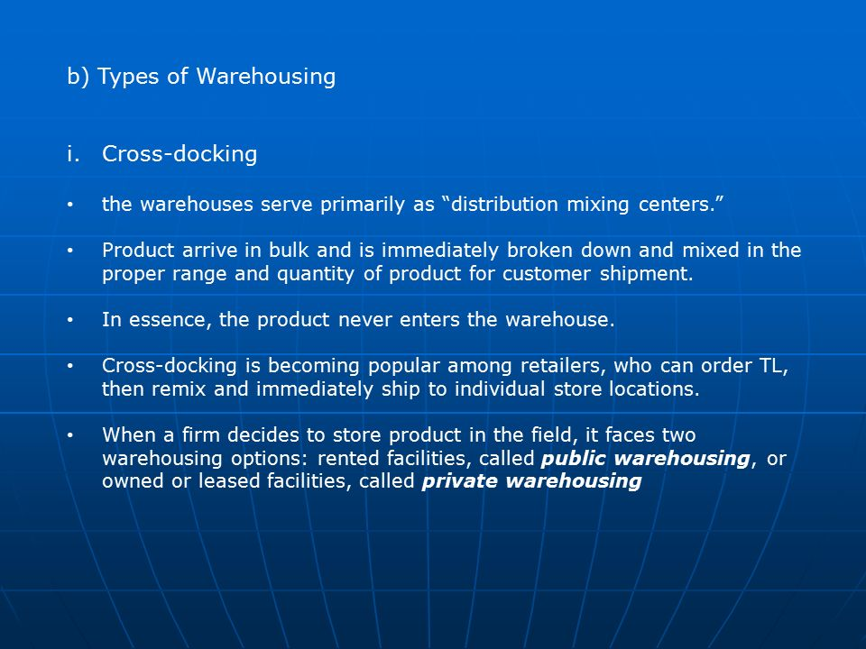 Warehousing Chapter 1: Introduction Warehouse