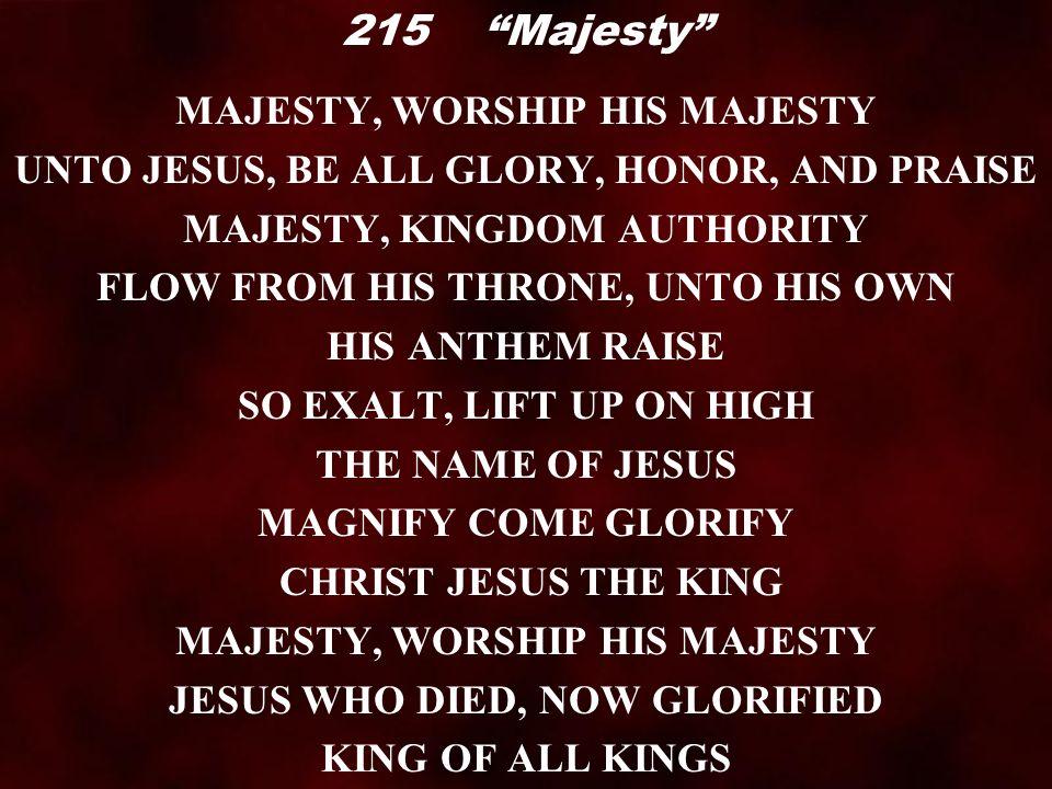 "Lyric lyrics to majesty : Call to Worship ""Surely the Presence"". Call to Worship ""Surely the ..."