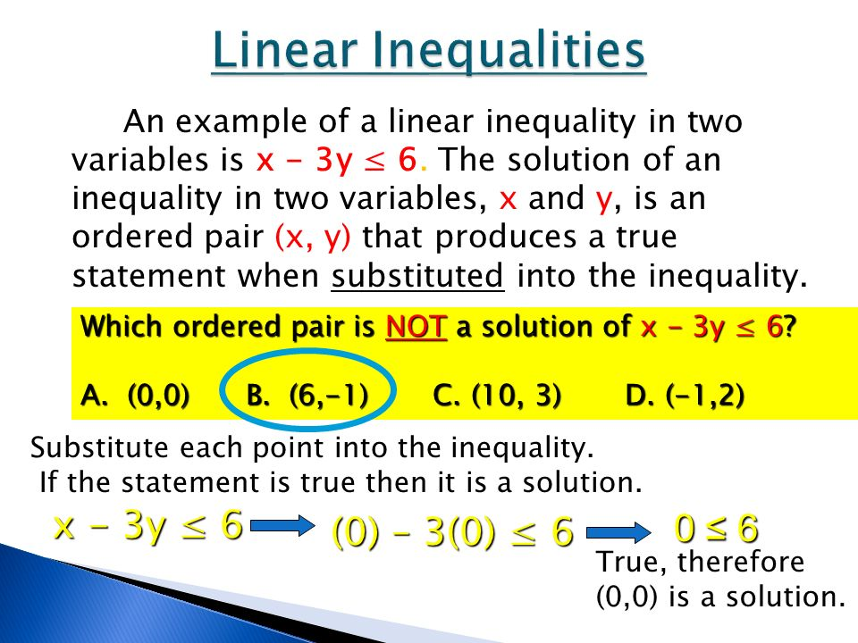 Graphing Linear Inequalities In Two Variables Ppt Download. Linear Inequalities X 3y 6 0 3. Worksheet. Graphing Inequalities In Two Variables Worksheet 6 6 Answers At Clickcart.co