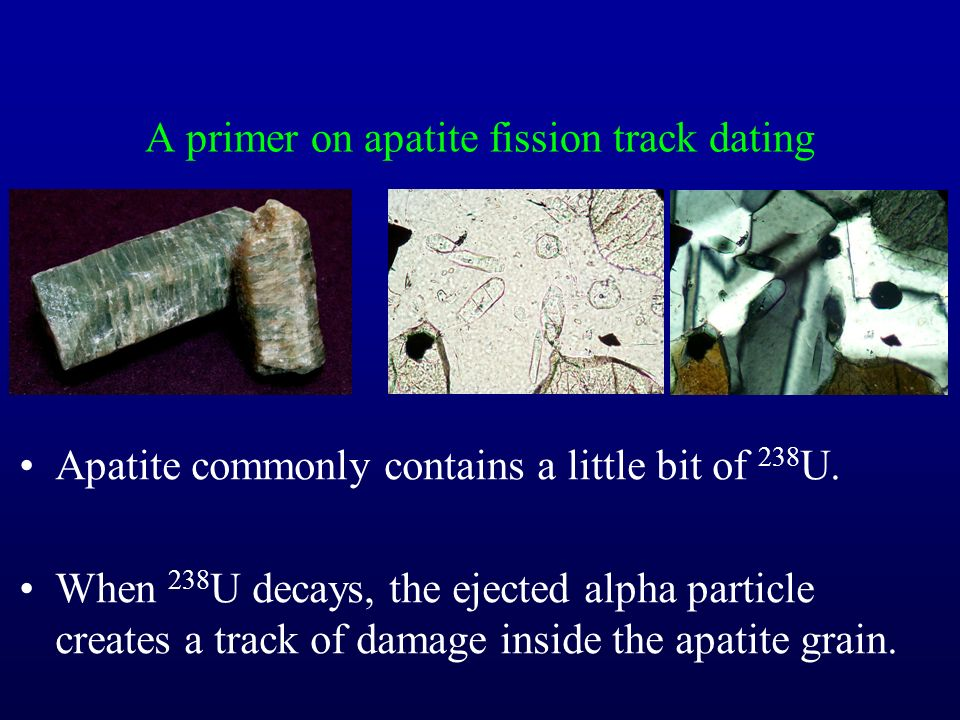Fission track dating geology