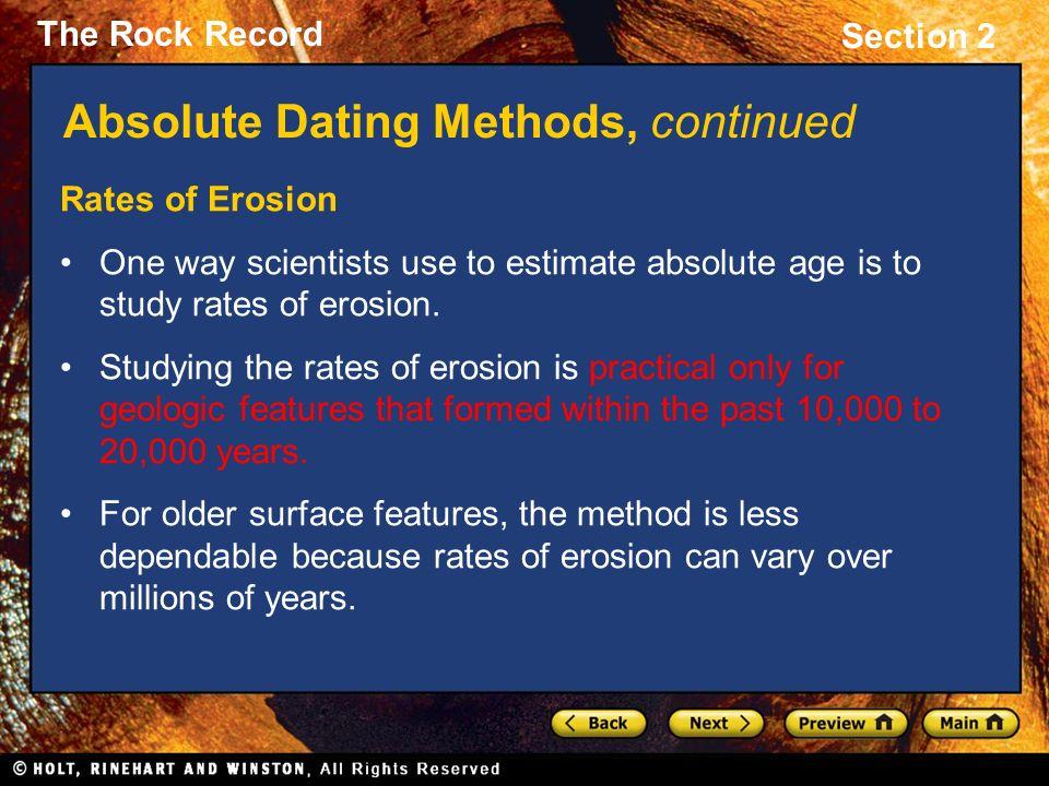 geologist use absolute dating online dating nur schreiben