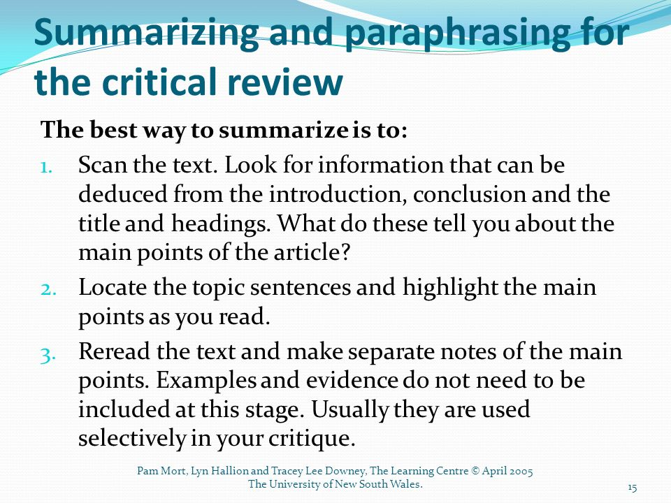 how to do an article review