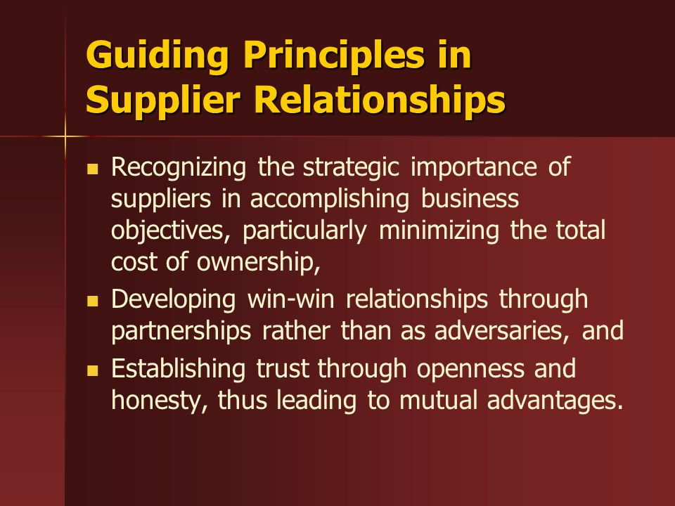Quality in Customer-Supplier Relationships - ppt video