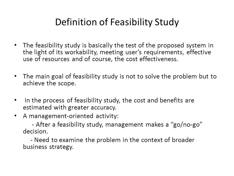 management feasibility definition