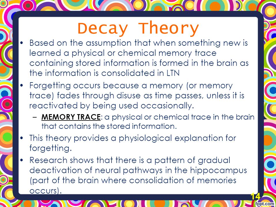 what is decay theory in psychology