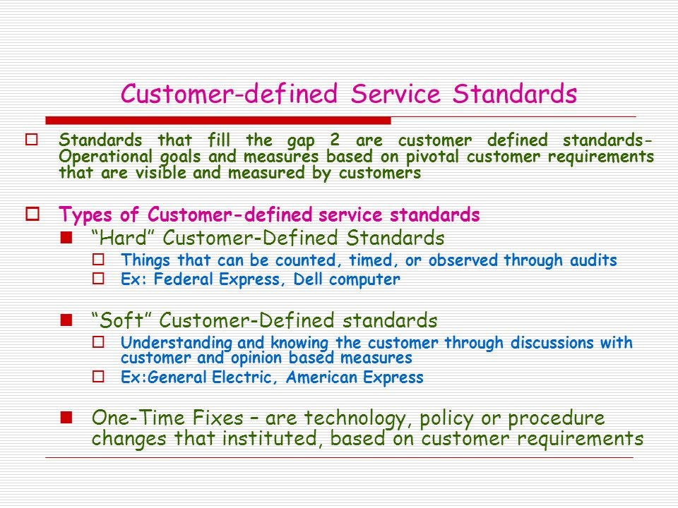 Chapter 10 Customer-Defined Service Standards - ppt video