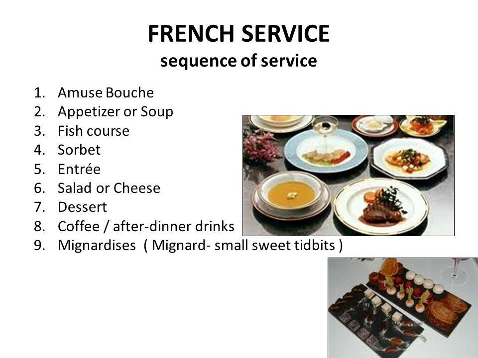 French Style Food Service