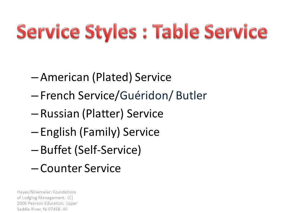 Upper Saddle River Nj >> TYPES OF FOOD & BEVERAGE - ppt video online download