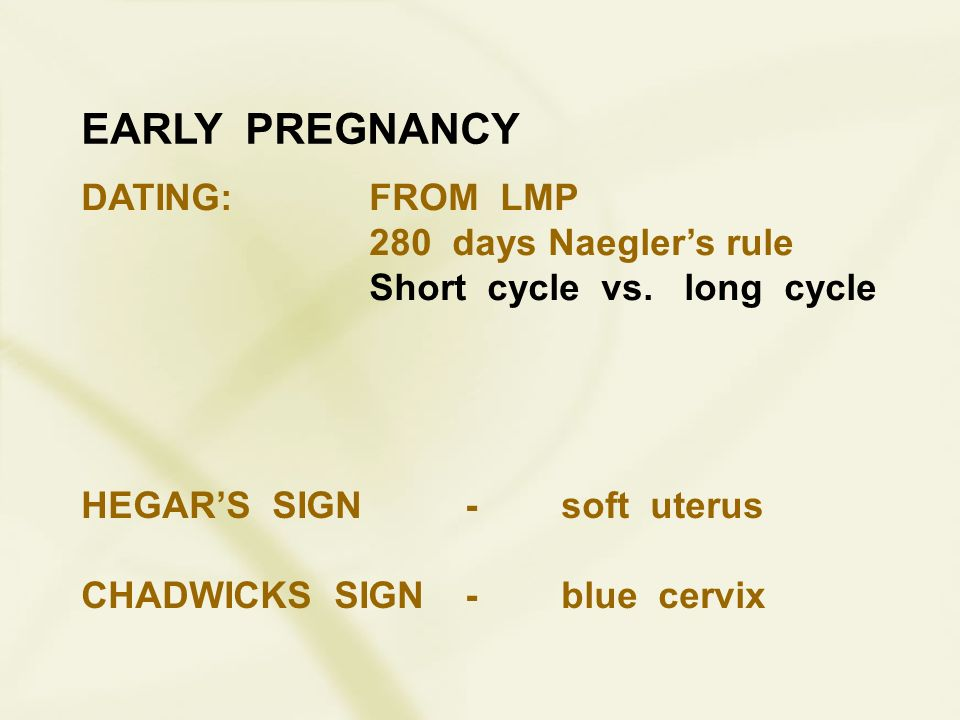 Early Pregnancy Dating From Lmp 280 Days Naegler S Rule Ppt Download