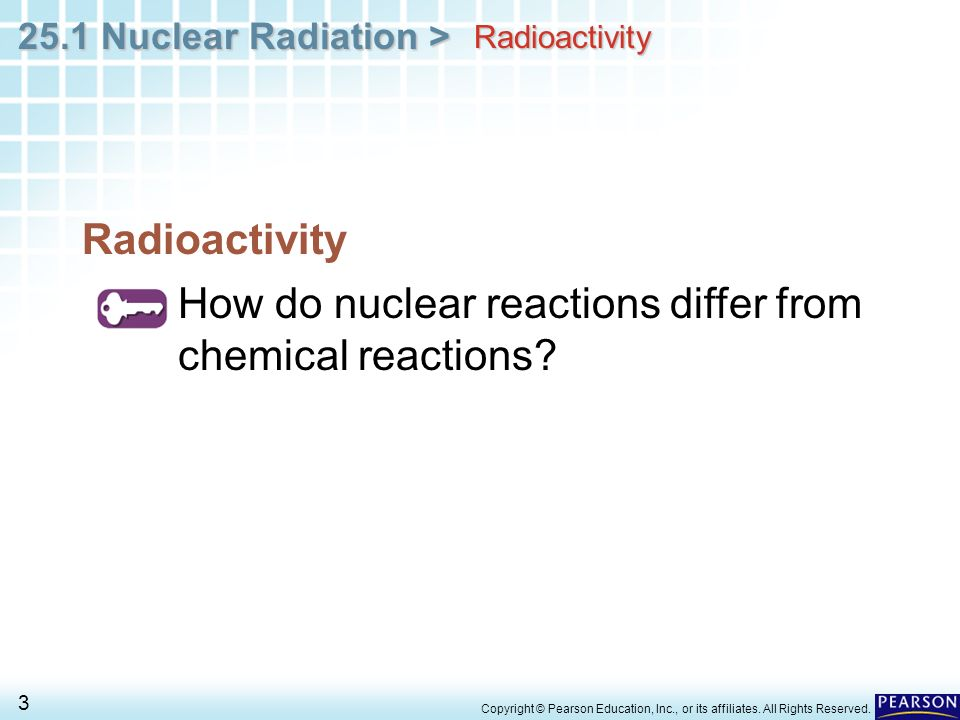 Chapter 25 Nuclear Chemistry 25 1 Nuclear Radiation Ppt