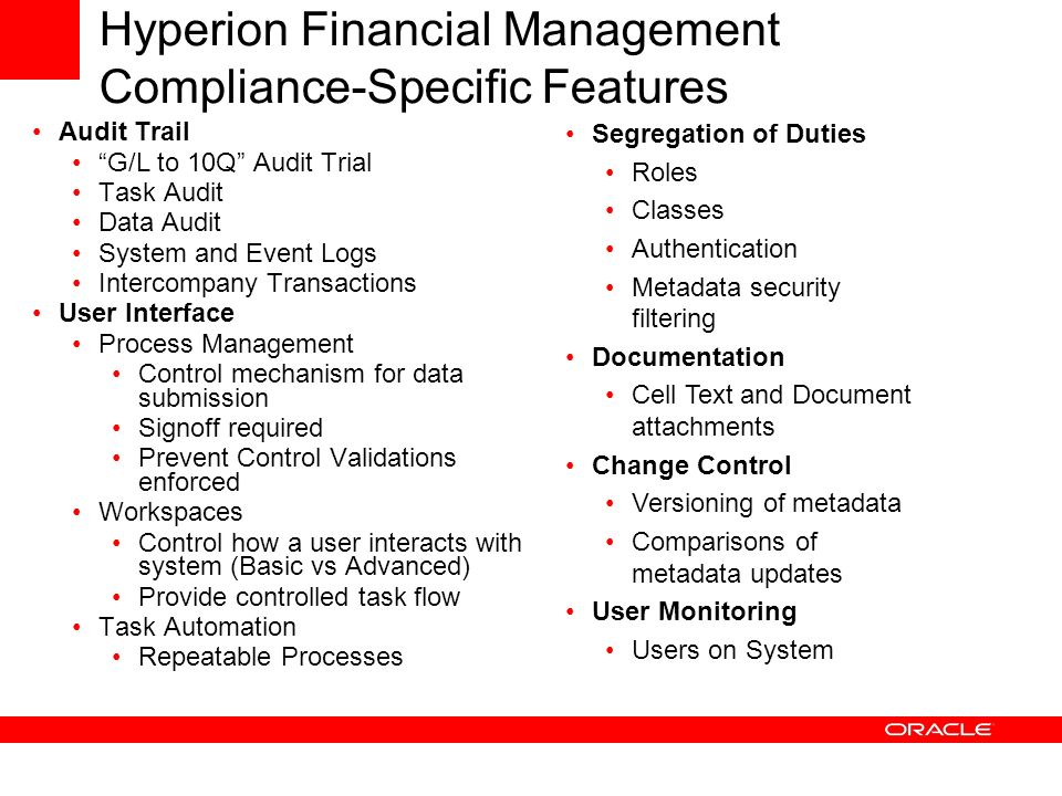 Hyperion Financial Management Overview Ppt Video Online