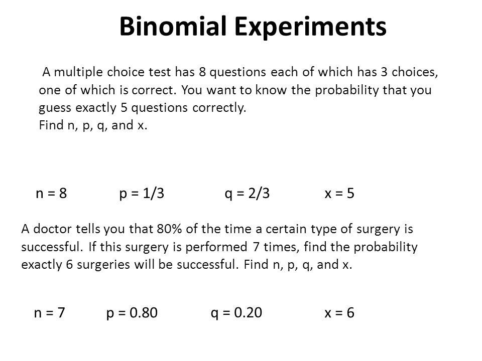 Binomial Distributions - ppt video online download