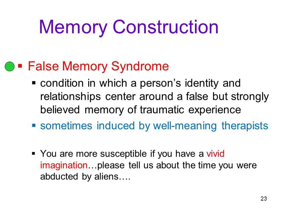 Forgetting, Memory Construction, and Improving Memory Module ppt ...