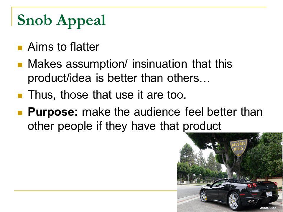 Snob Appeal Propaganda