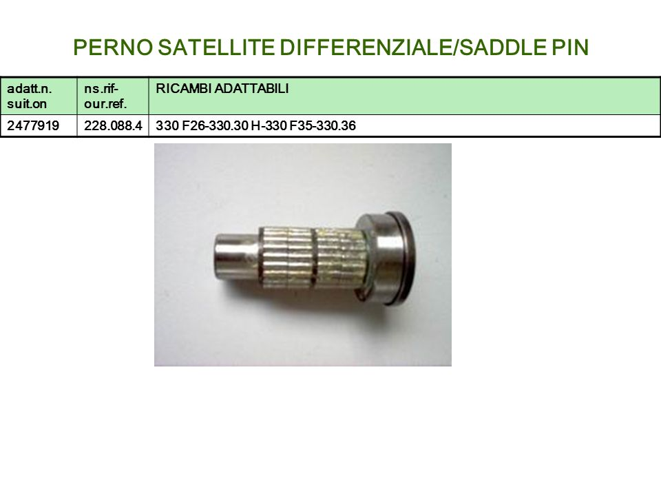 PERNO SATELLITE DIFFERENZIALE/SADDLE PIN