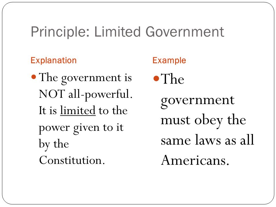 7 Principles Of The Constitution Ppt Video Online Download