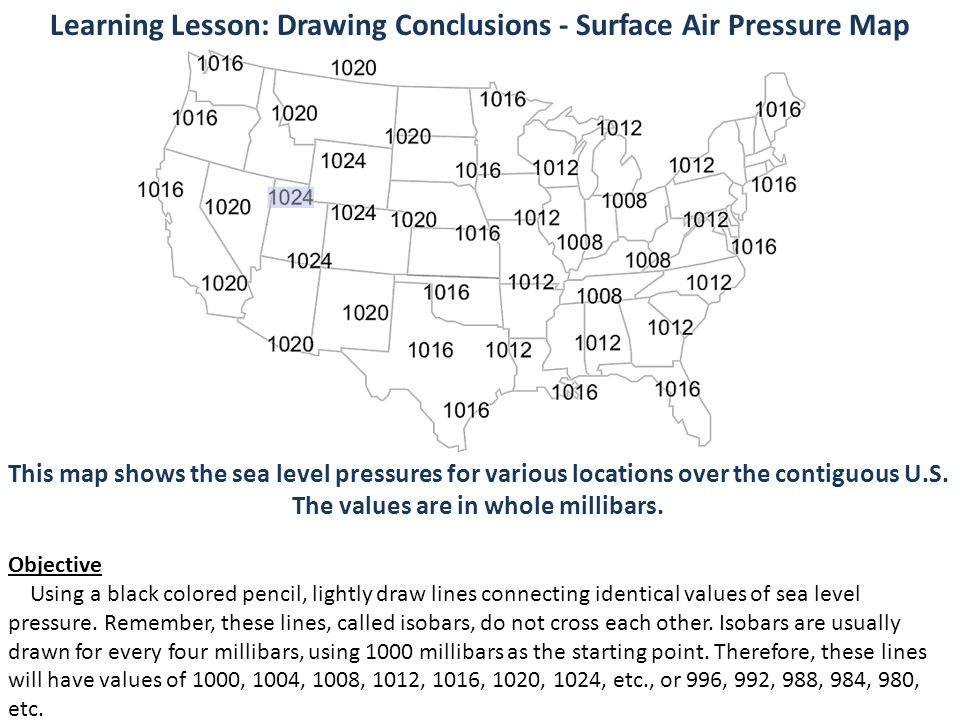 Meteo 1 Activity 6 Weather Map Activity Ppt Video Online Download - Pressure-map-of-us
