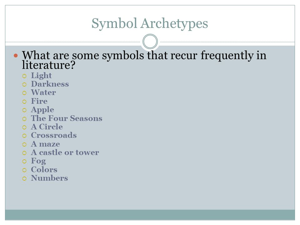 Archetypes And Symbols Ppt Video Online Download