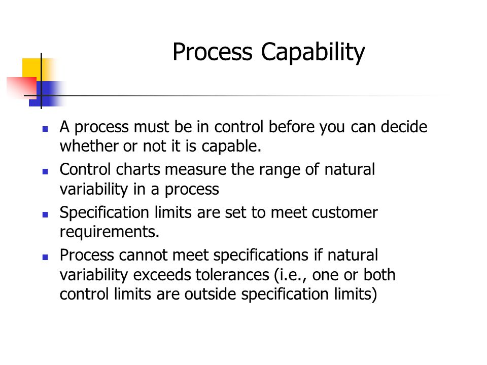 process capability thesis Process capability is the repeatability and consistency of a manufacturing process relative to the customer requirements in terms of specification limits of a product parameter this measure is used to objectively measure the degree to which your process is or is not meeting the requirements.
