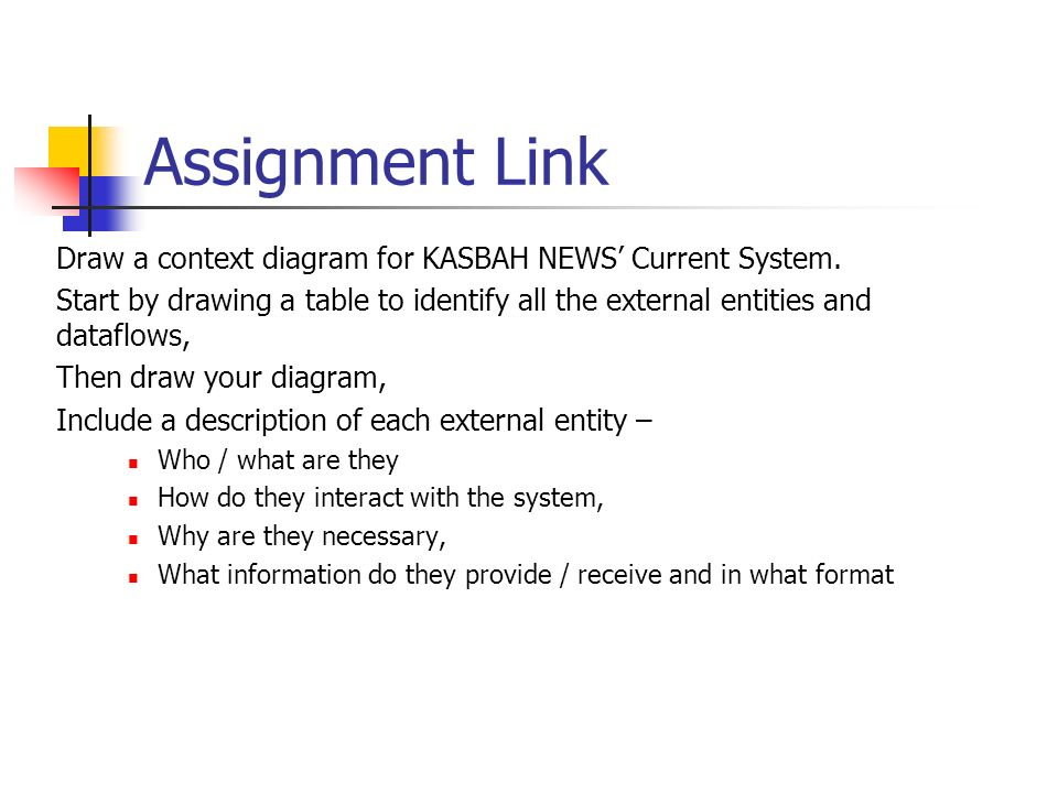 G045 lecture 07 dfd context diagrams data flow diagrams level 0 assignment link draw a context diagram for kasbah news current system ccuart Choice Image