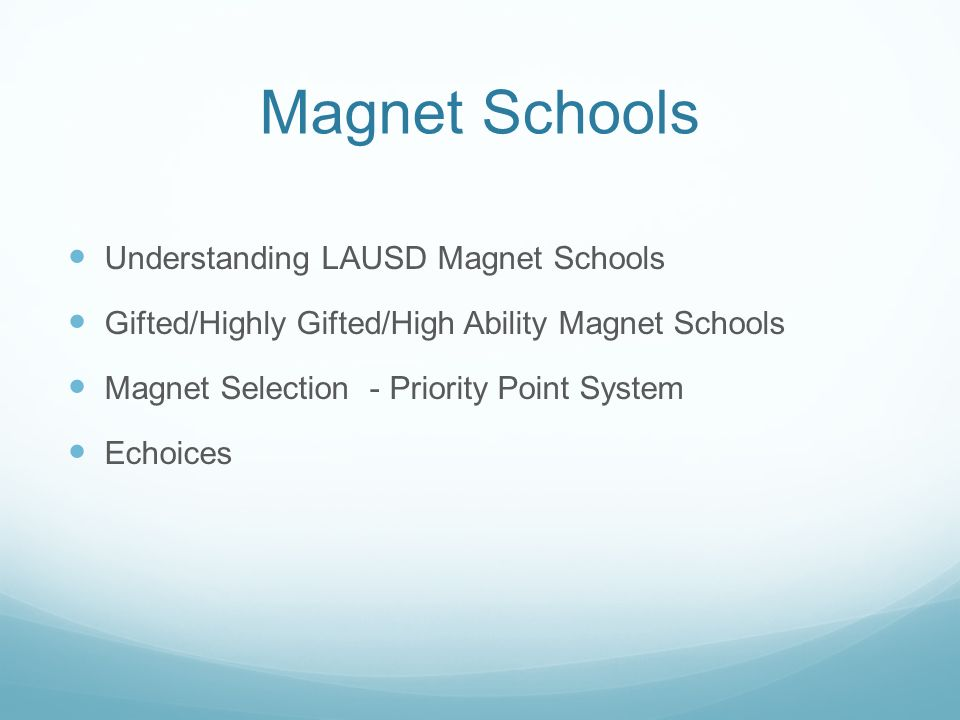highly gifted magnet lausd