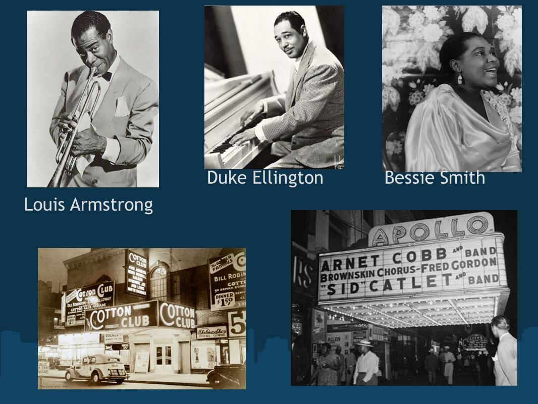 Duke Ellington Bessie Smith Louis Armstrong