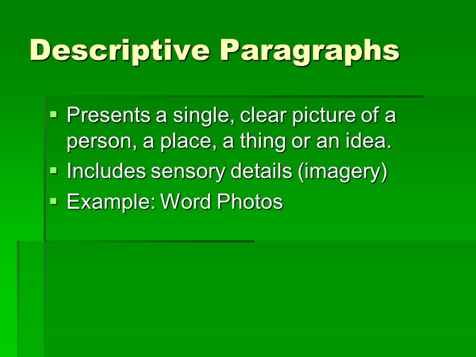 Writing Paragraphs Types Of Paragraphs Ppt Video Online