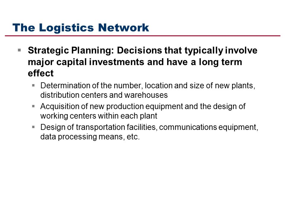 logistics network configuration ppt download