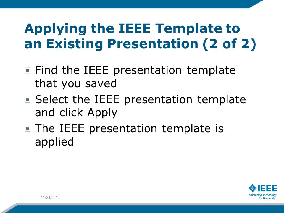 Applying the ieee template to a presentation ppt video online download 5 applying toneelgroepblik Image collections