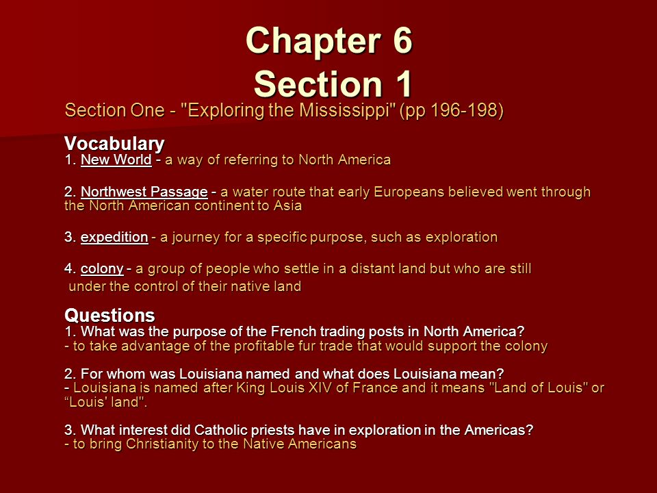 Chapter 6 French Rule in Louisiana - ppt download