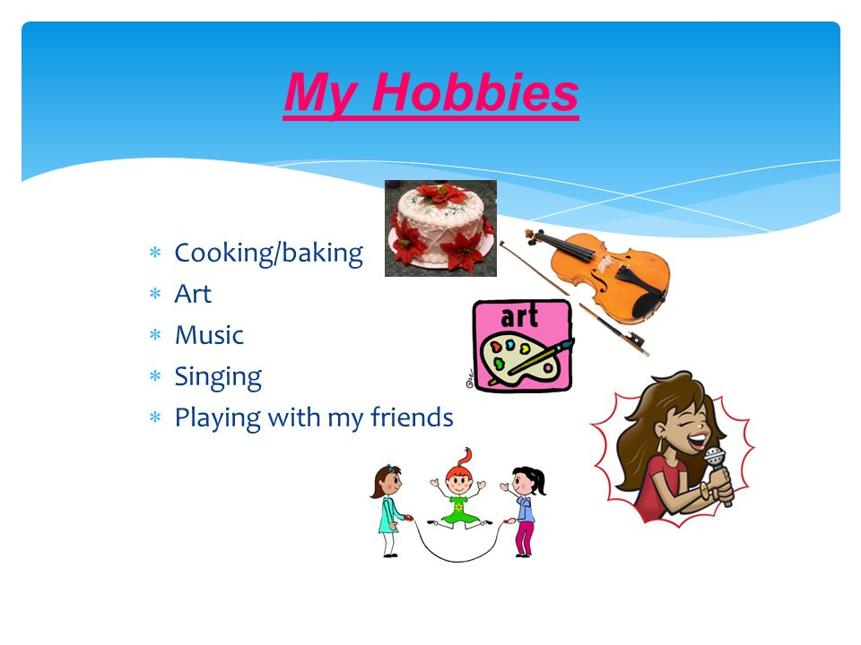 my hobbies are cooking