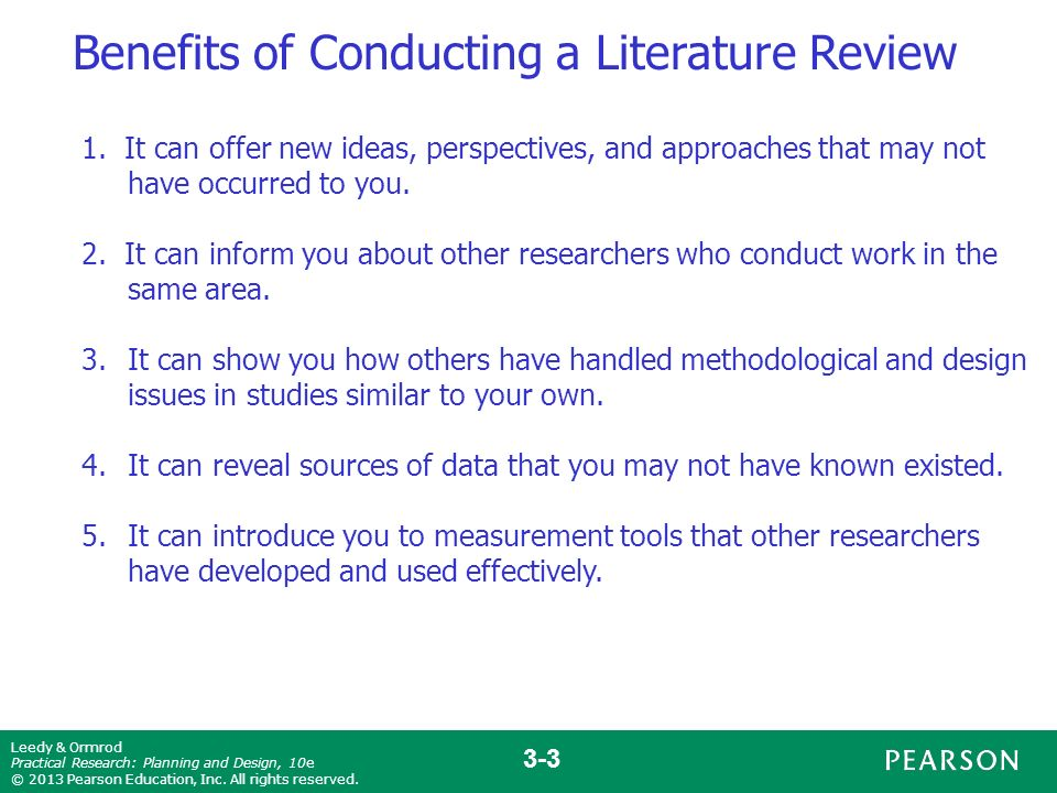 conducting a literature review in research