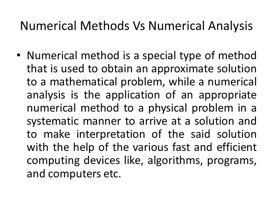 Numerical Methods  - ppt download