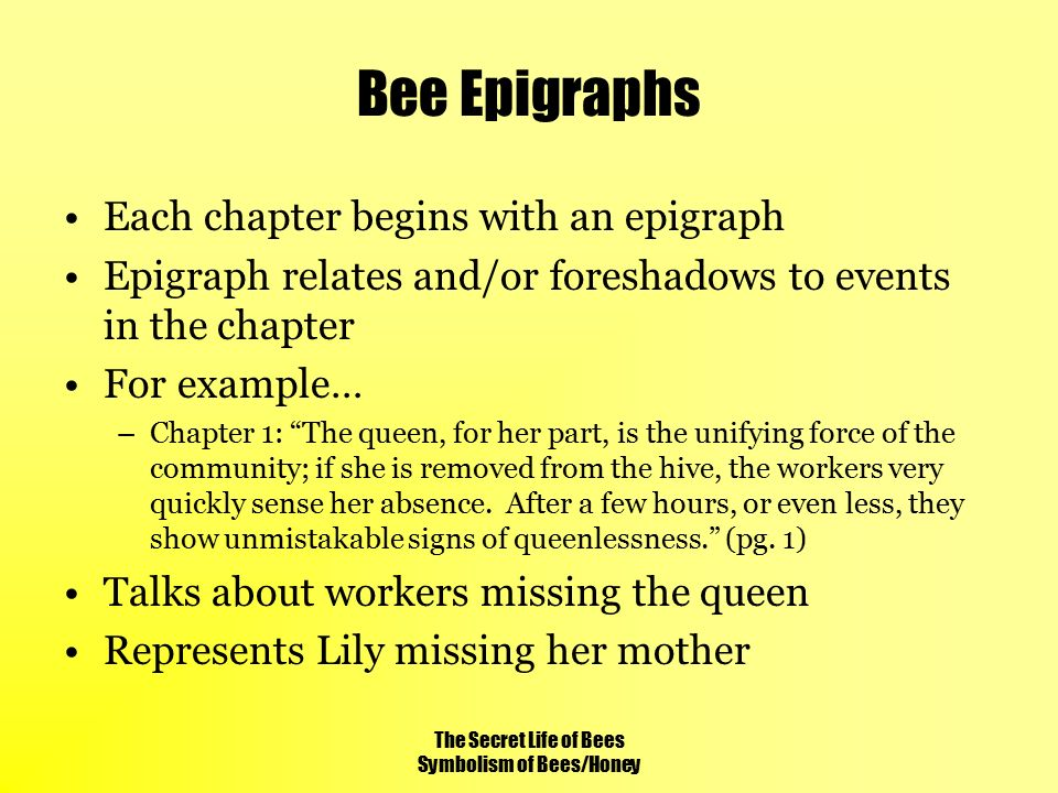 The Secret Life Of Bees Symbolism Of Beeshoney Ppt Video Online